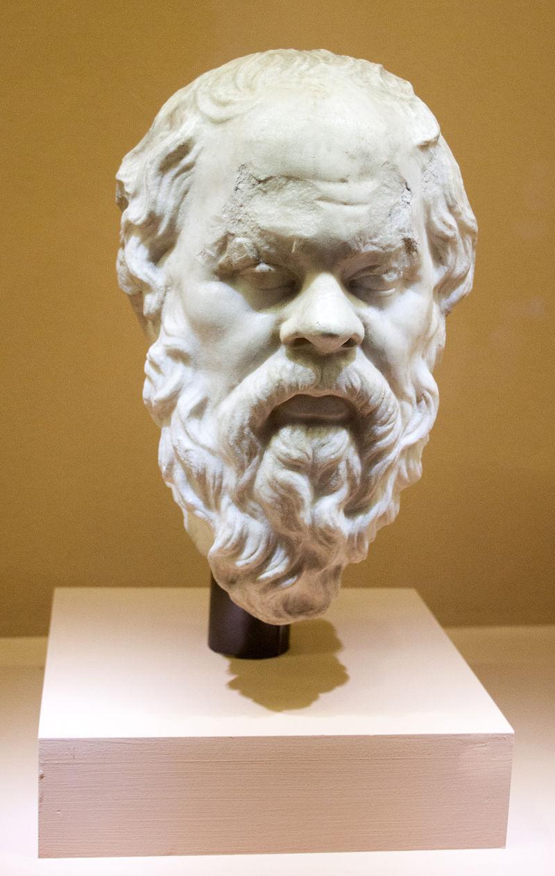 Bustul lui Socrate care se gaseste la Roma, Piazza Venezia; Museo Nazionale Romano, sursa Wikipedia.