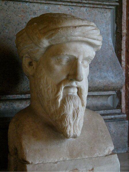Musei Capitolini, Roma. Bustul lui Pitagora. Sursa Wikipedia.