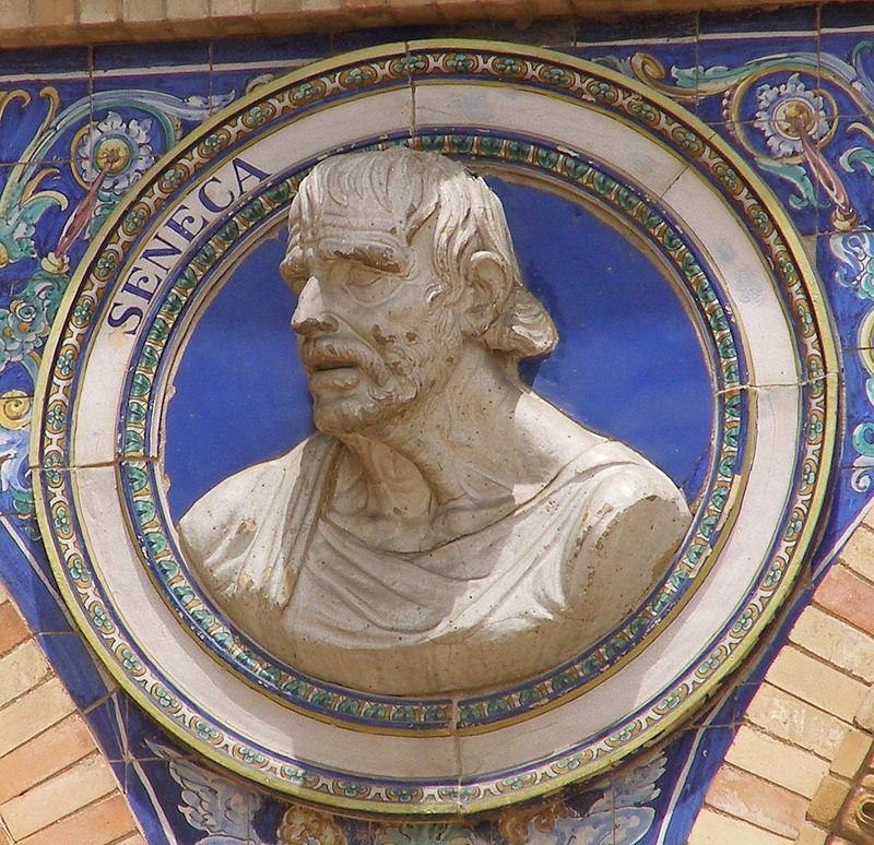 Autor foto Ktw. Bustul lui Seneca, Plaza de España in Sevilla, sursa Wikipedia.
