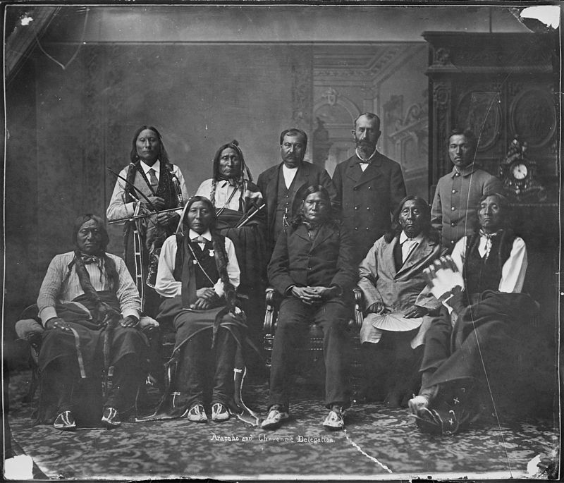 Arapaho_and_Cheyenne_delegation_-_NARA_-_523625