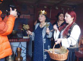 Regina Magiei Albe din România, Maria Câmpina a executat un ritual  de zi pentru jurnaliștii de la TVC Moscova